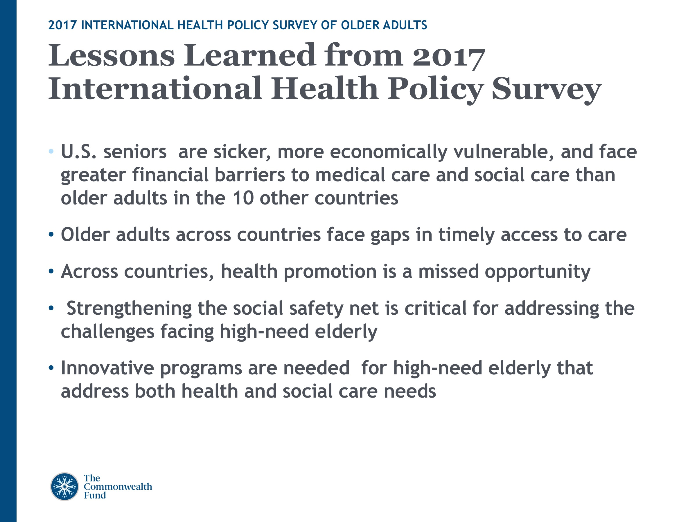 2017 International Health Policy Survey Slideshow Slide 9