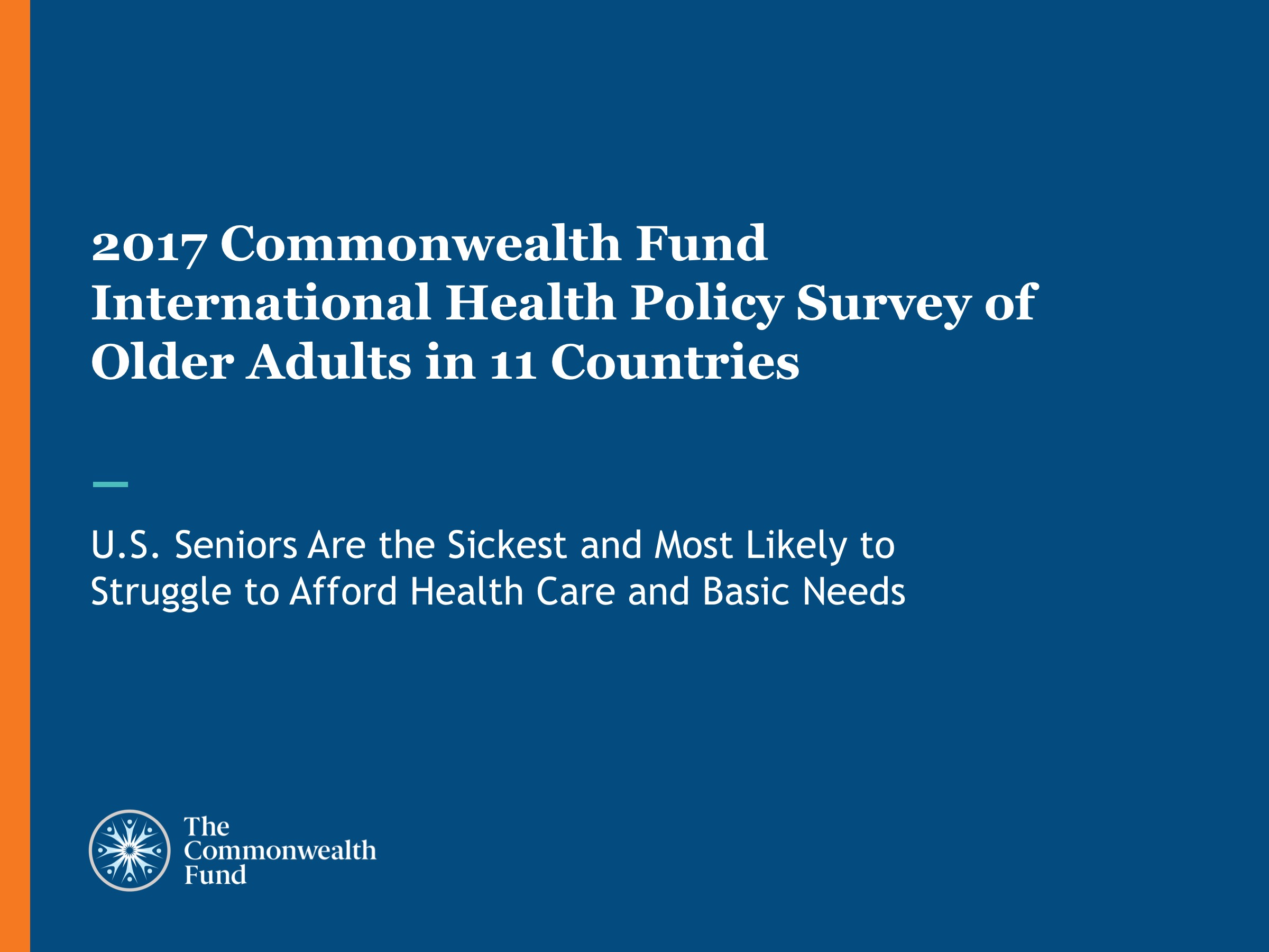 2017 International Health Policy Survey Slideshow Title