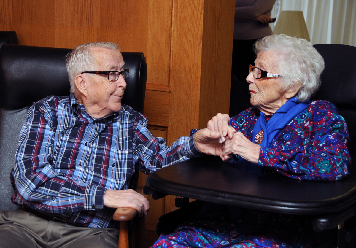 Long-term care resident and spouse
