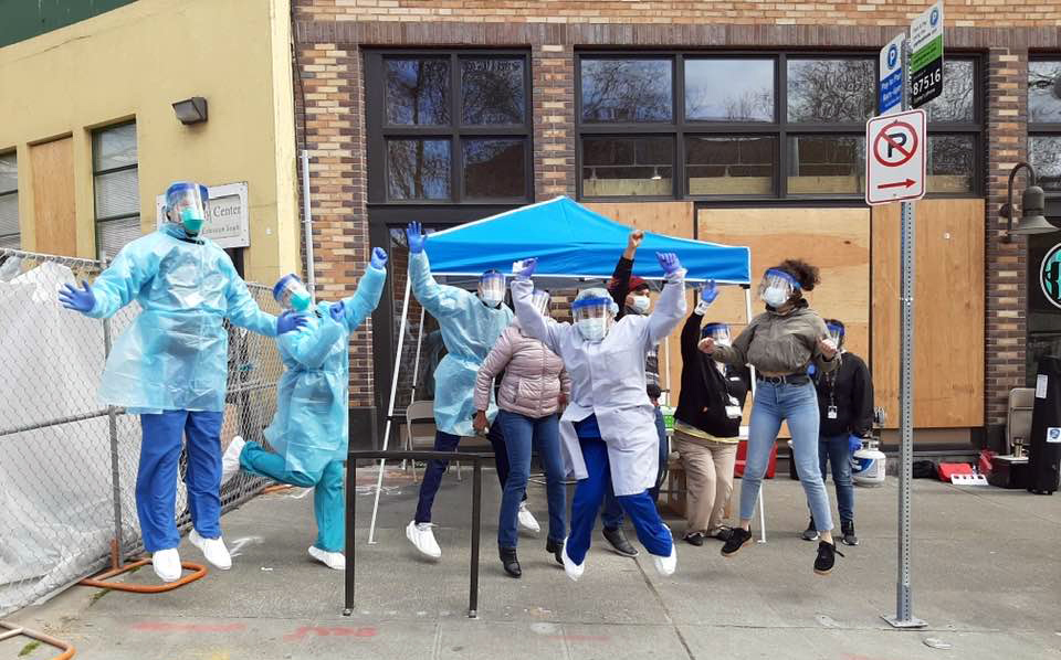 Seattle Indian Health Board staff are providing coronavirus testing at the Chief Seattle Club, which also offers meals, housing assistance, a legal clinic, Native art job training, and other services to American Indians and Alaska Natives experiencing homelessness.