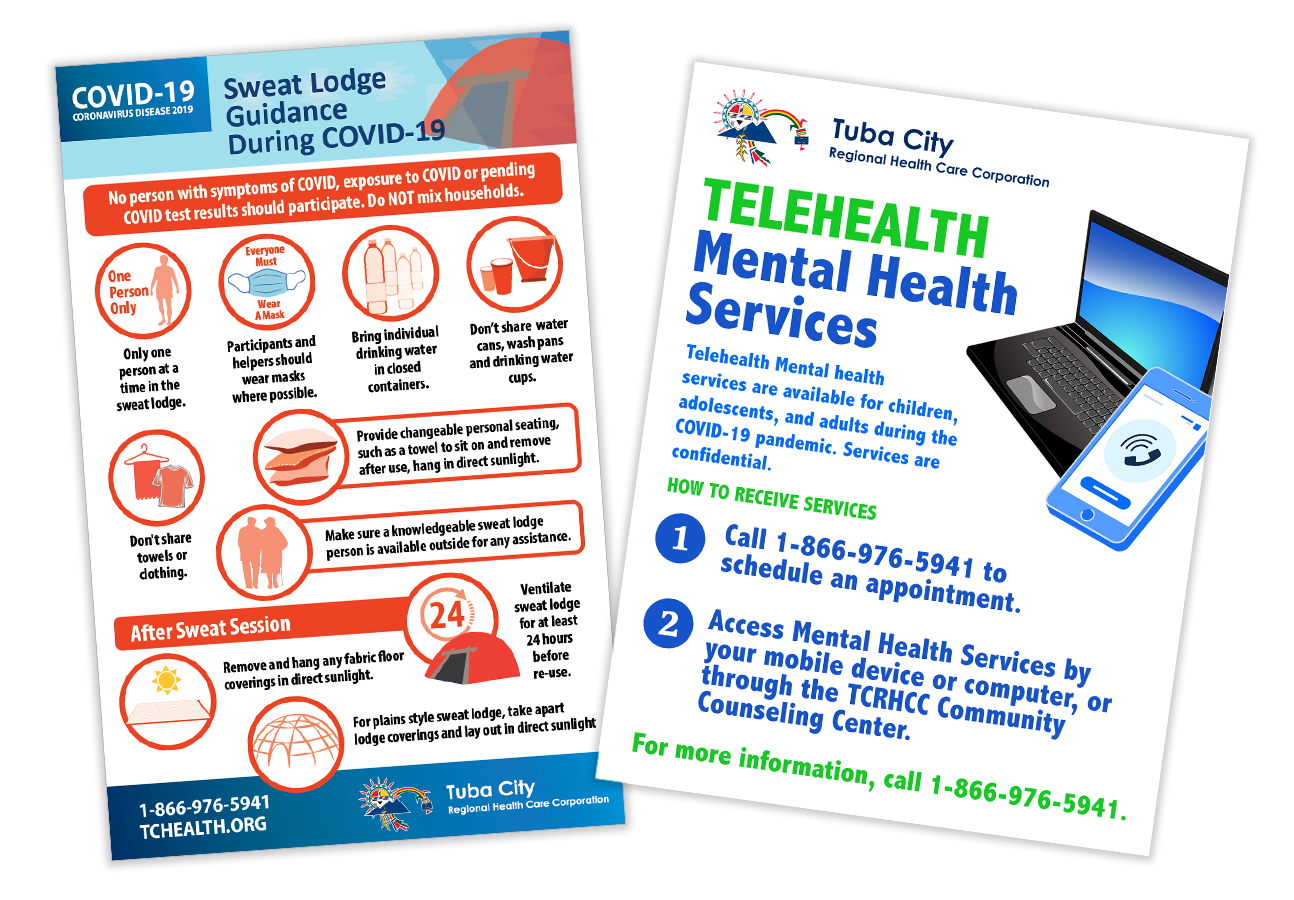 Tuba City Regional Health Care has tailored its public health messages to show how to safely hold ceremonies, take part in sweat lodges, and access mental health services during the pandemic.