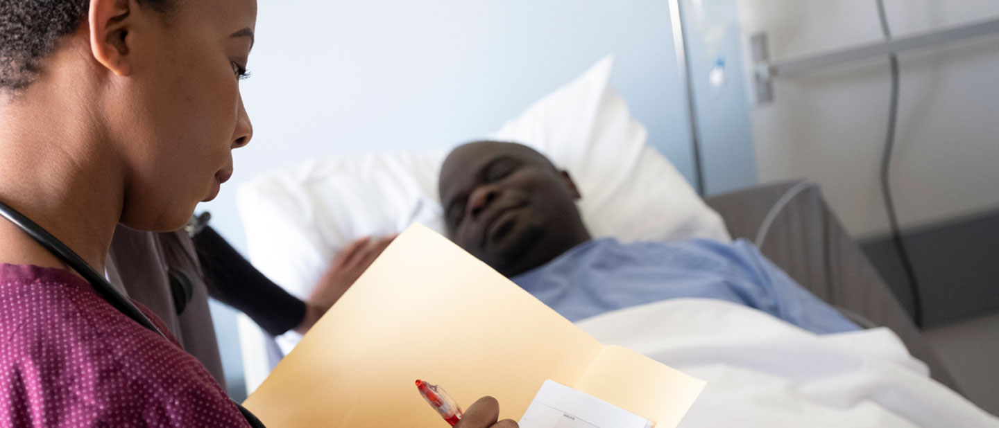 patient in bed with preventable illness
