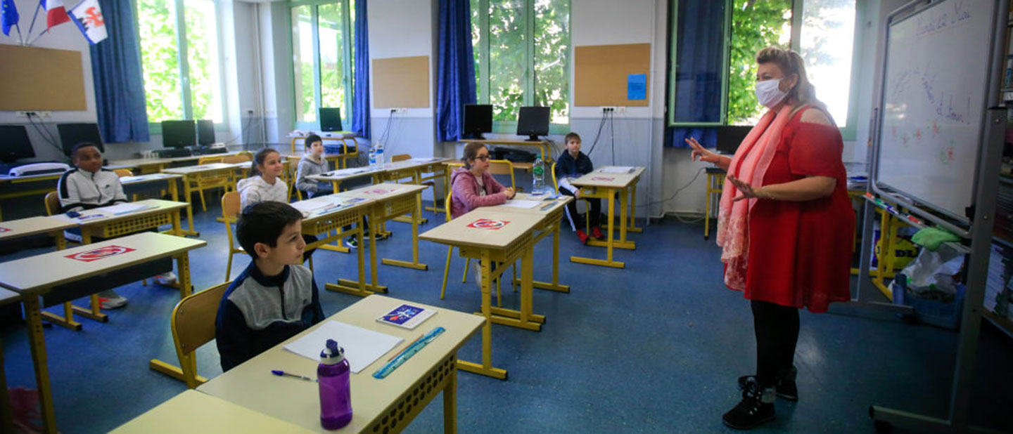 school children in France during COVID-19