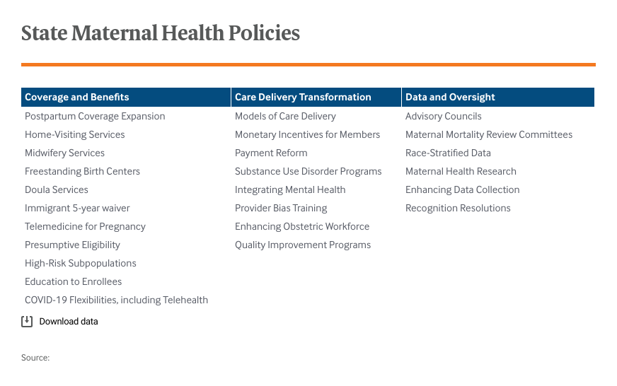 State Maternal Health Policies