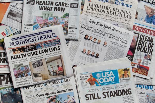 newspapers with health care law info