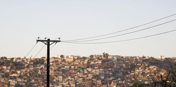 Phone lines over Tijuana