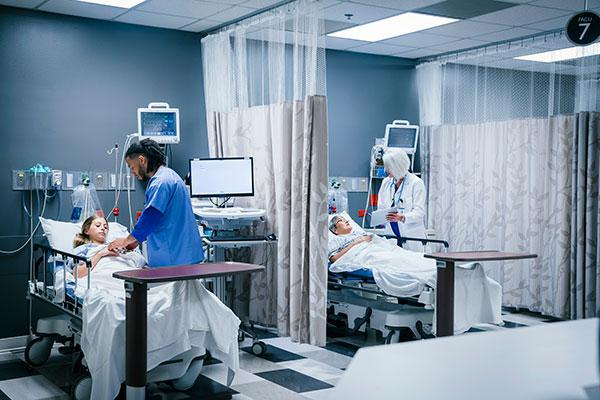 patients in the emergency room which may not be covered by insurance