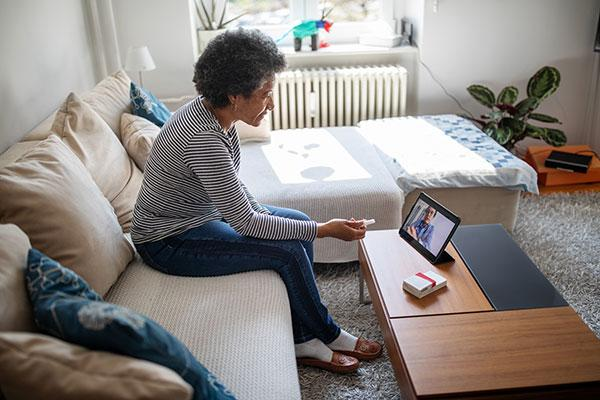 senior using telehealth