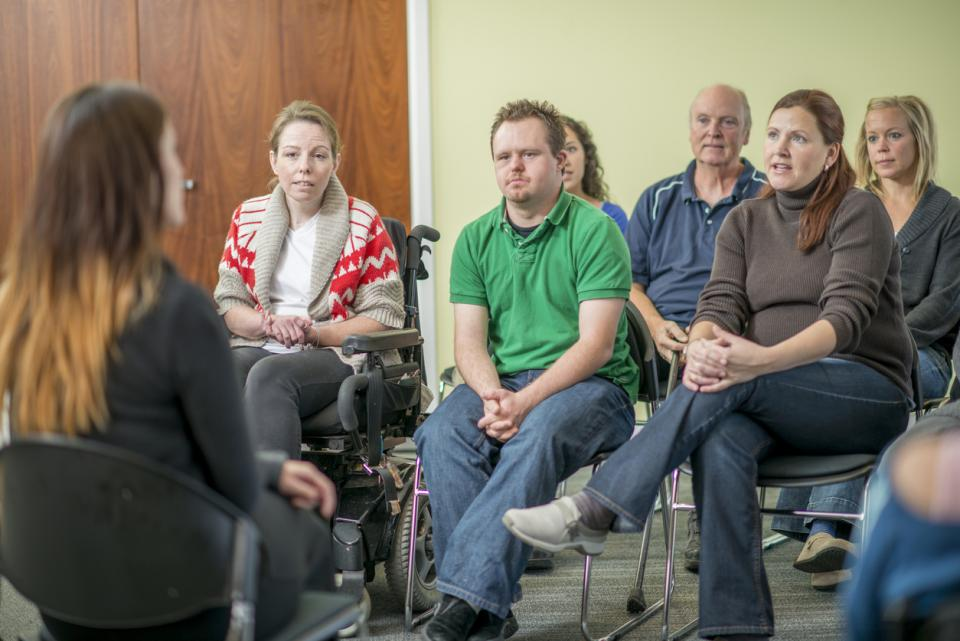 Group participates in therapy