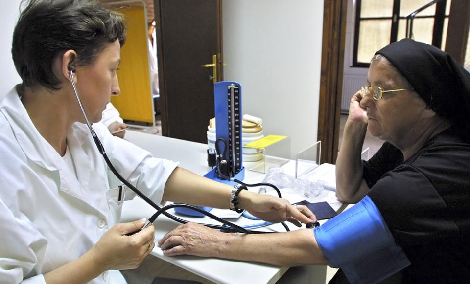 health care doctor patient hospital blood pressure