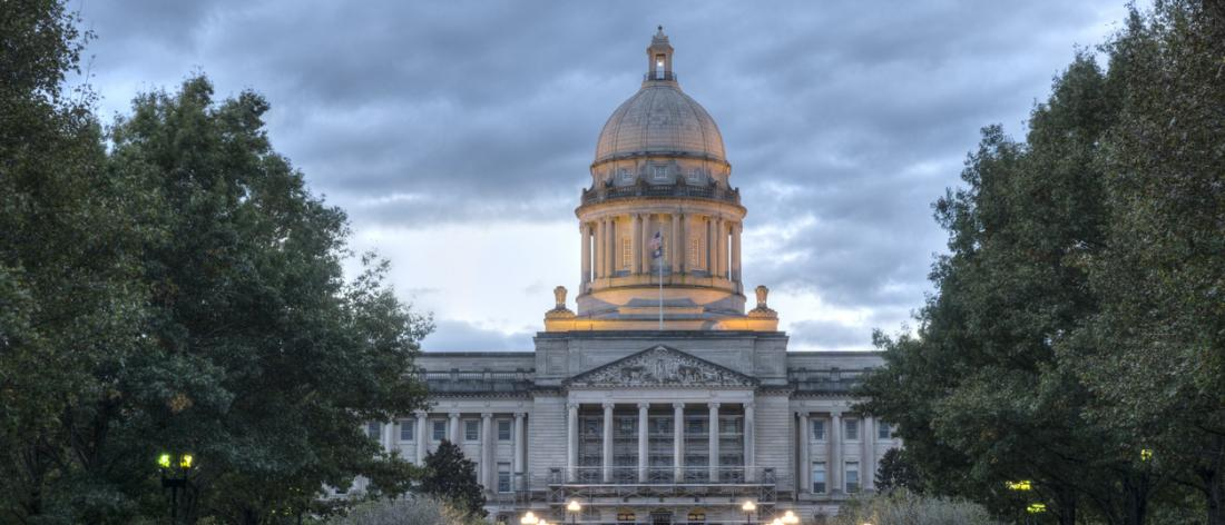 Kentucky capitol building where work demonstration was debated