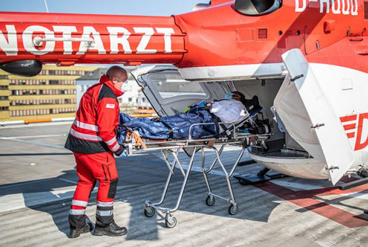 COVID-19 patient in France transported to Germany