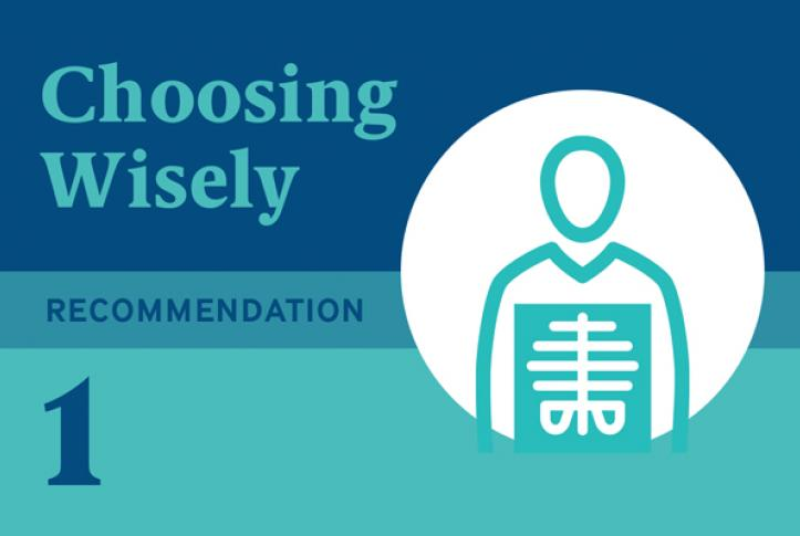 Choosing Wisely Recommendation 1