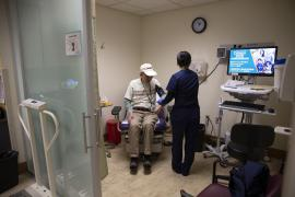Man visits health clinic as an outpatient